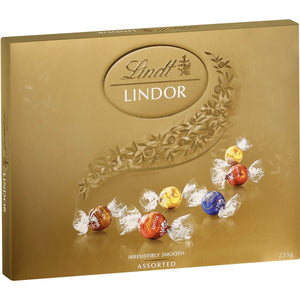 LINDOR LARGE GIFT BOX ASSORTED BALLS  235G X 6