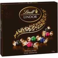LINDOR GIFT BOX DARK ASSORTED BALLS 150G X 6