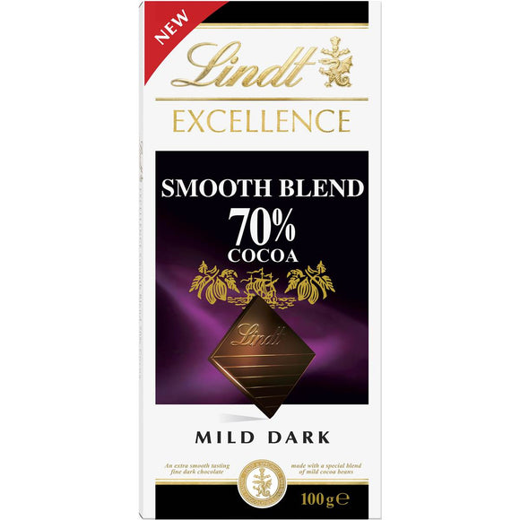 LINDT EXCELLENCE SMOOTH 70% COCOA 100G