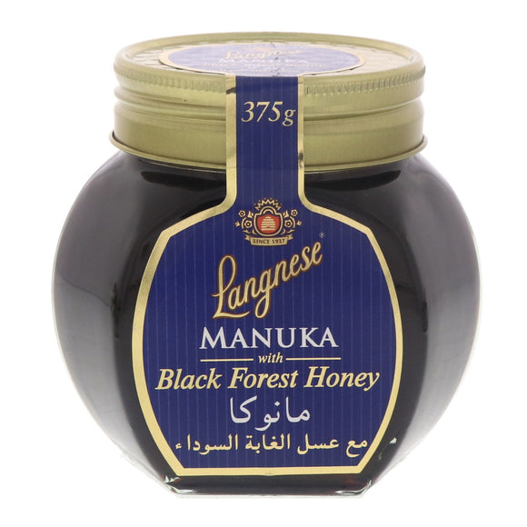 LANGNESE HONEY MANUKA BLACK FOREST 375G X 5