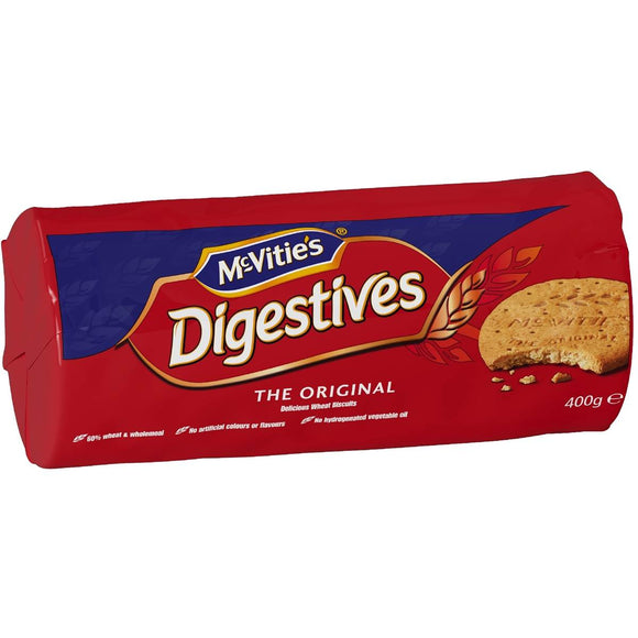 MCVITIES DIGESTIVES ORIGINAL 400G X 12