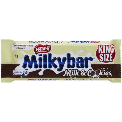 MILKYBAR MILK & COOKIES KING SIZE 80G X 24