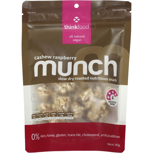 MUNCH CASHEW RASPBERRY 140G X 6