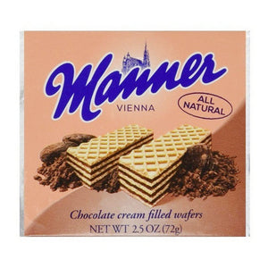 MANNER CHOCOLATE WAFERS 75G X 12