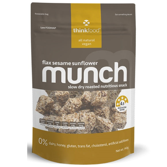 MUNCH FLAX SESAME SUNFLOWER 140G X 6