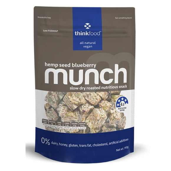 MUNCH HEMP SEED BLUEBERRY 140G X 6