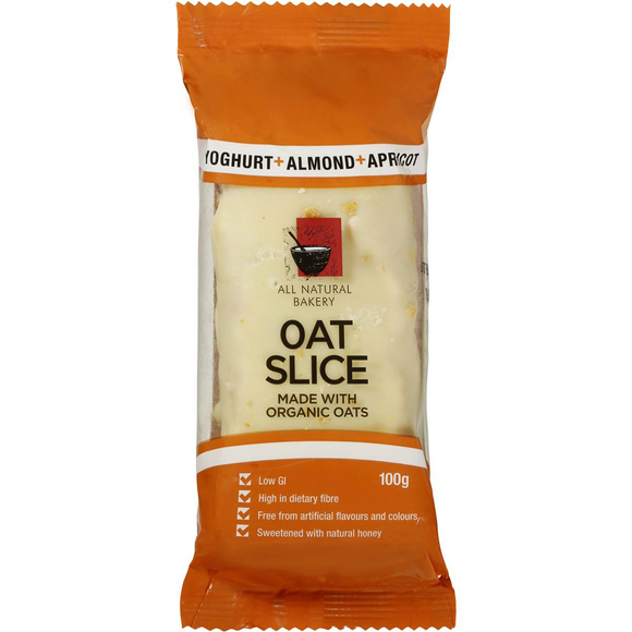 OAT SLICE YOGURT ALMOND & APRICOT 100G X 14