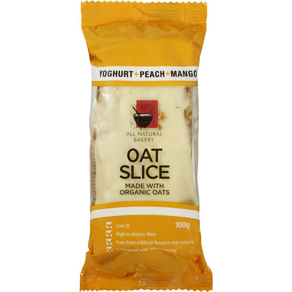 OAT SLICE YOGURT PEACH & MANGO 100G X 14