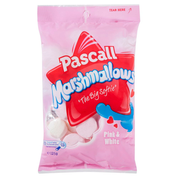 PASCALL MARSHMALLOWS PINK & WHITE 125G X 12
