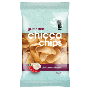 PIRANHA CHICCA CHIPS CHILLI CREAM CHEESE 75G X 12