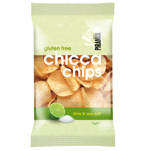 PIRANHA CHICCA CHIPS LIME & SEA SALT 75G X 12