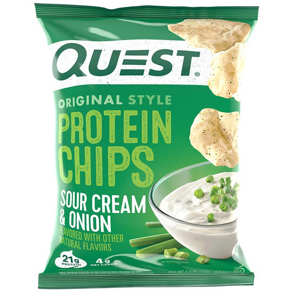 QUEST PROTEIN CHIPS SOUR CREAM & ONION 32G X 8