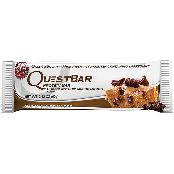 QUEST BAR CHOCOLATE CHIP COOKIE DOUGH 60G X 12