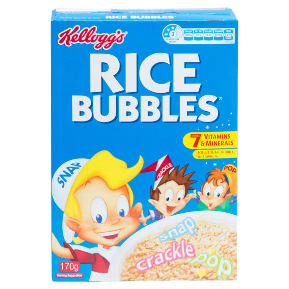 RICE BUBBLES 170G X12