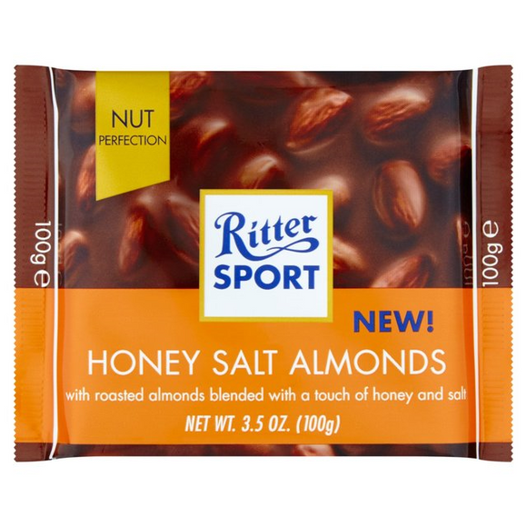 RITTER SPORT HONEY SALT ALMONDS 100G X 11