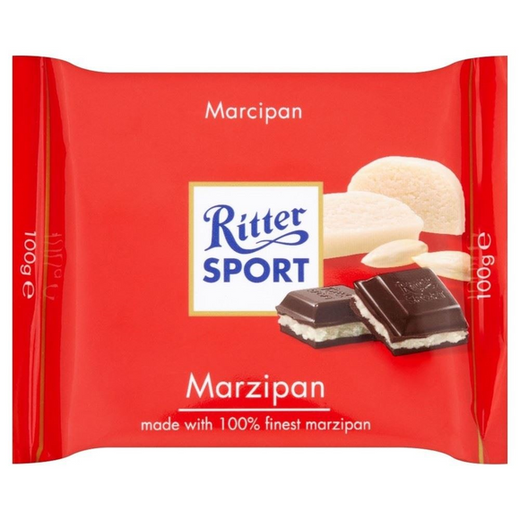 Ritter Sport Marzipan 100g X 12 Zahab Confectionery