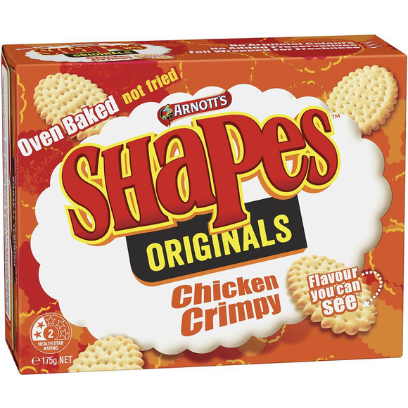 ARNOTT'S SHAPES CHICKEN CRIMPY 175G X 24