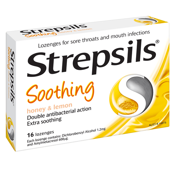 STREPSILS SOOTHING HONEY & LEMON 16LOZENGES X 12