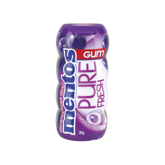 MENTOS PURE FRESH GRAPE 30G X 10