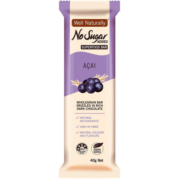 WELL NATURALLY NO SUGAR ACAI 40G X 16