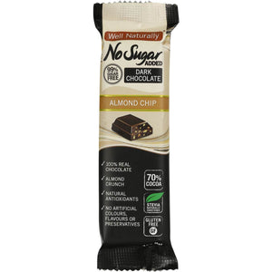 WELL NATURALLY NO SUGAR ALMOND CHIP 45G X 16