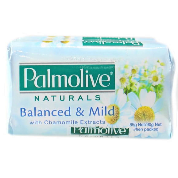PALMOLIVE 4PK SOAP BARS BALANCED & MILD W/ CHAMOMILE EXTRACTS