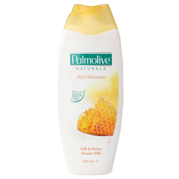 PALMOLIVE NATURALS RICH MOISTURE MILK & HONEY SHOWER MILK 500ML X 6