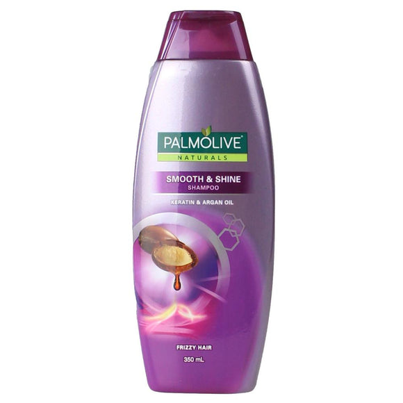 PALMOLIVE NATURALS SHAMPOO SMOOTH & SHINE KERATIN & ARGAN OIL 350ML X 4
