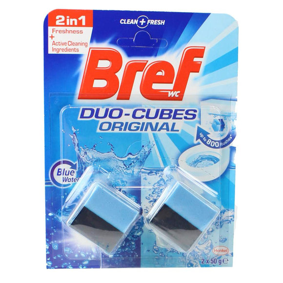 BREF DUO-CUBES 2PK FORMULA FRESHNESS BLUE WATER