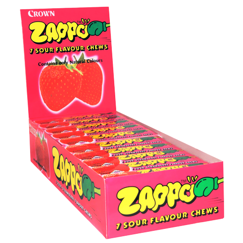 ZAPPO SOUR STRAWBERRY X 60