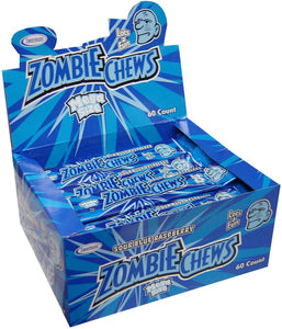 ZOMBIE CHEWS SOUR BLUE RASPBERRY 28G X 60