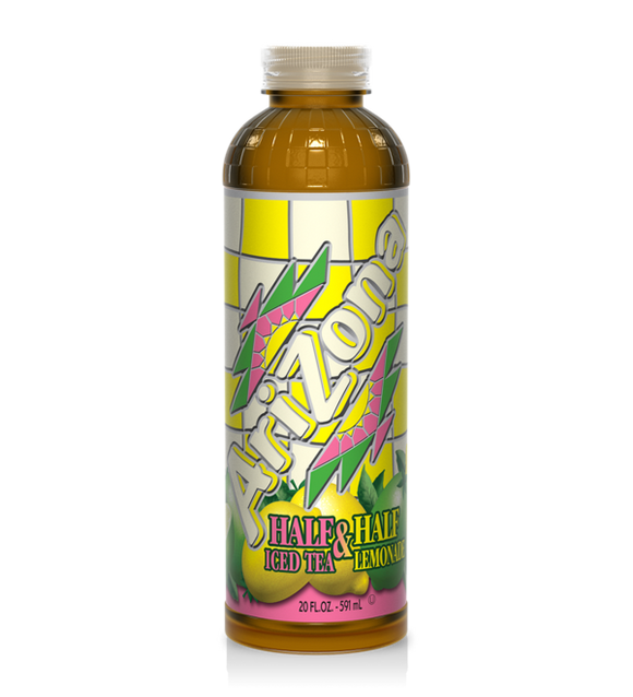 ARIZONA BOTTLE HALF&HALF LEMONADE 591ML X 24