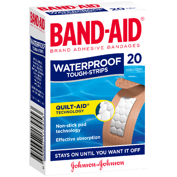 BAND-AID WATERPROOF TOUGH STRIPS 20'S X 6