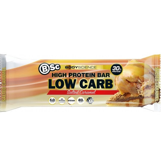 BSC HIGH PROTEIN BAR SALTED CARAMEL 60G X 12