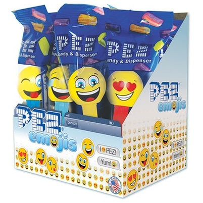 PEZ DISPENSER EMOJIS 17G X 6