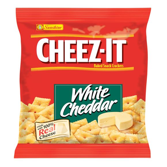 CHEEZ IT CRACKERS WHITE CHEDDAR 42G X 8