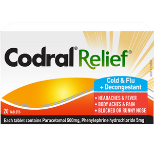 CODRAL RELIEF COLD & FLU 10TABS X 6