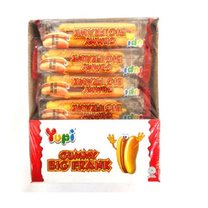 YUPI GUMMY BIG HOT DOG FRANKFURTER 32G X 24