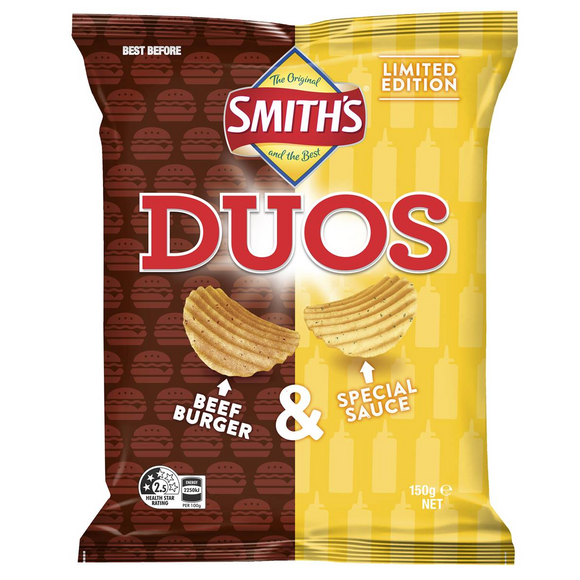 SMITHS DUOS BEEF BURGER 150G X 12