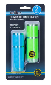 GLOW IN THE DARK TORCHES 2 PK X 12