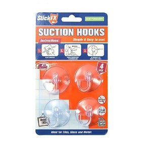 4PCS SUCTION HOOKS HOLDS 1KG