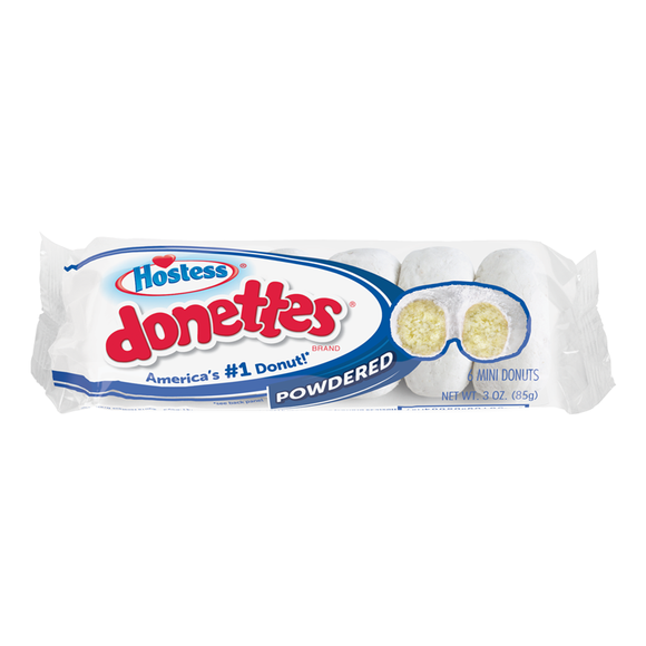HOSTESS DONETTES POWDERED 85G X 10