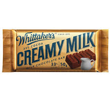 WHITTAKER'S BAR CREAMY MILK 50G X 50