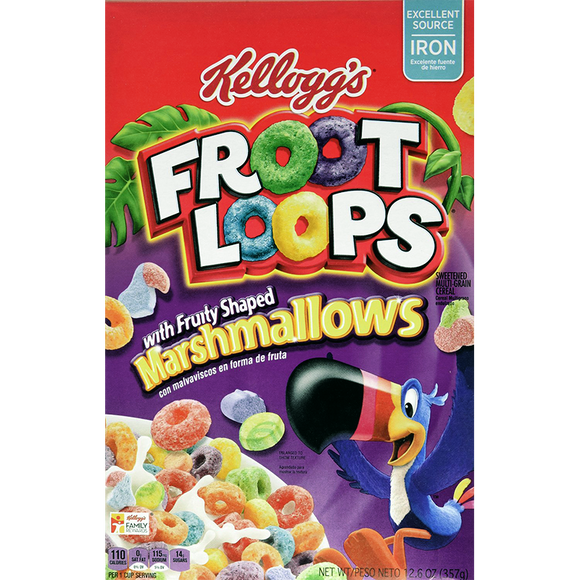 FROOT LOOPS MARSHMALLOW 357G X 16