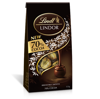 LINDOR SHARING BAG 70% COCOA 125G X 8