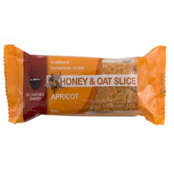 HONEY & OAT SLICE APRICOT 80G X 18 ($1.49 each inc GST)