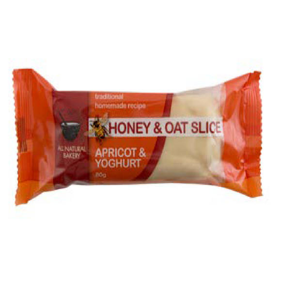 HONEY & OAT SLICE APRICOT YOGHURT 80G X 18 ($1.49 each inc GST)