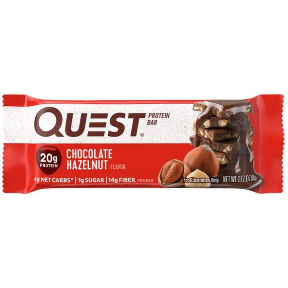 QUEST BAR CHOC HAZELNUT 60G X 12
