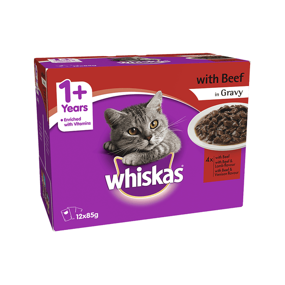 Whiskas Favorite BEEF 85G X 12