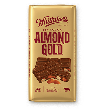 WHITTAKER'S BLOCK ALMOND GOLD 200G X 14